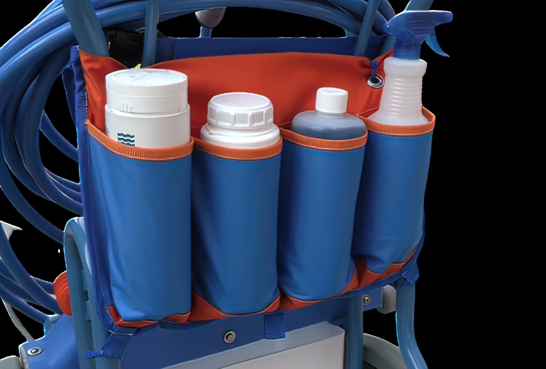 Clear Pool Bottle Caddy